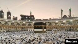 Muslims Pray at Grand Mosque