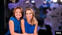 Керівник української редакції Голосу Америки Мирослава Гонгадзе і журналіст Голосу Америки Марія Прус