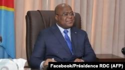Président Félix Tshisekedi azali kokamba likita lya mbala 49 lya mbulamatari na visioconférence na Kinshasa, 18 septembre 2020. (Facebook/Présidence RDC)