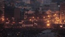 میدان تحریر قاهره، شامگاه سه شنبه، ۱ فوریه ۲۰۱۱