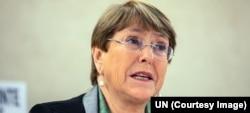 Komisaris Tinggi HAM PBB, Michelle Bachelet. (foto: dok).