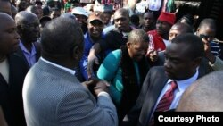 Morgan Tsvangirai in his last meet the people campaign. (File Photo)