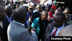 Prime Minister Morgan Tsvangirai in his meet the people campaign