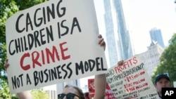 반 이민 조처에 항의하는 시위대 (자료사진)