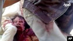 20일 알 아라비야 텔레비젼에 비친 가다피의 모습.