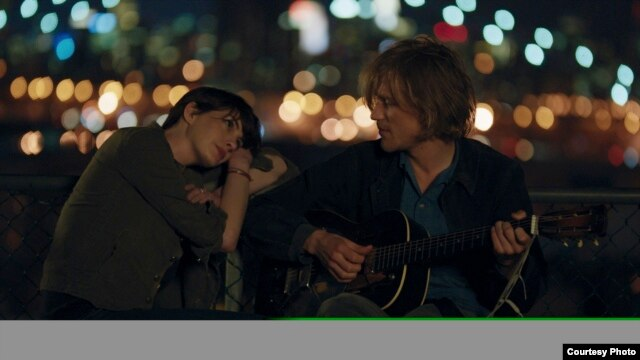 "Anne Hathaway and Johnny Flynn in a scene from ""Song One"" (Courtesy Sundance/John Guleserian)"