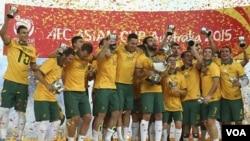 زرد پوشان آسترالیا قهرمانی شان را در رقابت های جام ملت های آسیا جشن گرفتند.