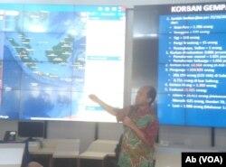 Kepala Pusat Data Informasi dan Humas BNPB Sutopo Purwo Nugroho (Foto: VOA/Ab)
