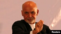 Afghan president-elect Ashraf Ghani Ahmadzai speaks during an event in Kabul, September 22, 2014