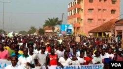 Manifestação em Bissau (Foto de Arquivo)