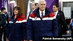 Pence en Pyeongchang, para la inauguración de los Juegos Olímpicos.