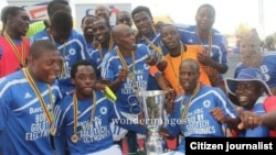 Dynamos Football Club players celebrating after winning the Mbada Diamonds Cup last year. (File Photo/Courtesy Image)