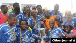 Dynamos Football Club celebrate after winning the Mbada Diamond Cup last year. (Photo/Citizen Journalist)
