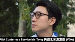 本土民主前線新界東立法會補選候選人梁天琦 (攝影: 美國之音湯惠芸)