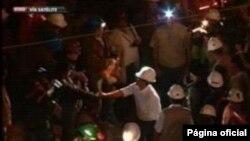 El presidente de Perú, Ollanta Humala, se encuentra en Ica acompañando el rescate de los mineros. (Presidencia de Perú)