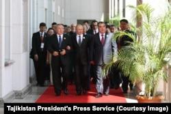 2014年9月11-12日,上海合作組織領導人在塔吉克斯坦首都杜尚別舉行峰會.(美國之音白樺攝)