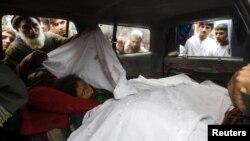 Posmrtni ostaci žrtava NATO napada u pokrajini Lagman
