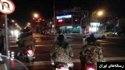 تصویر آرشیوی از گشت نیروی بسیج و سپاه در تهران