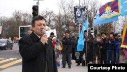 世界維吾爾大會(World Uyghur Congress)秘書長多力坤·艾沙。(資料圖片)