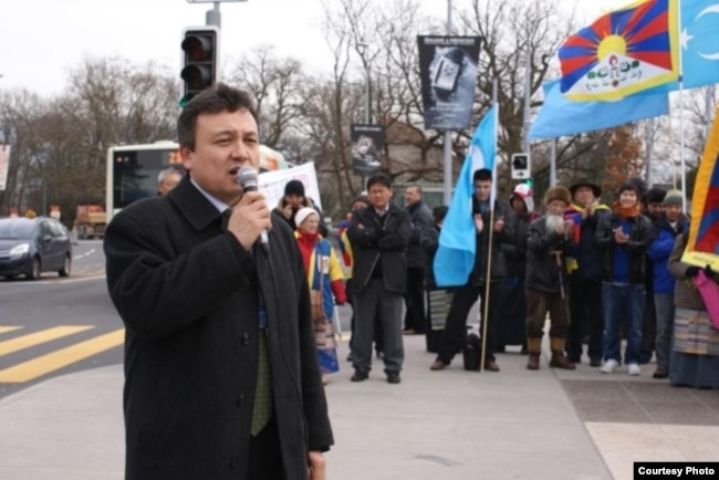 FILE - Dolkun Isa, Chinese Uighur rights activist and chairman of the World Uighur Conference, which advocates human rights and democracy.