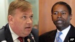 El concejal Daniel Halloran y el senador Malcolm Smith son dos de los seis acusados de soborno en Nueva York.