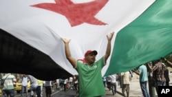 敘利亞民眾反對總統阿薩德。