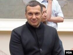 亲克里姆林宫著名电视主持人索洛维约夫(美国之音白桦拍摄)