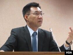 台湾执政党国民党立委江启臣(美国之音张永泰拍摄)