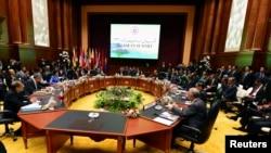 Suasana penyelenggaraan KTT ASEAN ke -23 di Bandar Seri Begawan, Brunei (9/10).