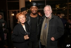 "Caroline Ducrocq, Stephan James and Howard Hesseman seen at the Annapurna Pictures' ""If Beale Street Could Talk"" screening at ArcLight Hollywood, Oct. 23, 2018, in Los Angeles."