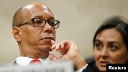 رابرت وود نماینده آمریکا در کنفرانس بین المللی خلع سلاحهای کشتار جمعی در ژنو - ۹ اسفند ۱۳۹۶