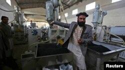Предприятие по производству труб для проекта по обеспечению чистой питьевой водой жителей Афганистана. Кабул. 17 марта 2013 г.