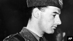 FILE - Swedish diplomat and World War II hero Raoul Wallenberg, is shown in this undated photo. (AP photo/Pressens Bild)