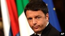 FILE - Italian Premier Matteo Renzi.