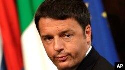 FILE - Italian Premier Matteo Renzi, May 10, 2015.