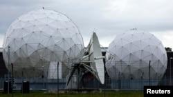 Un plato de satélite utilizado por la NSA para recoger información desde Alemania.