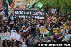 Diyarbakır'da Kudüs protestoları