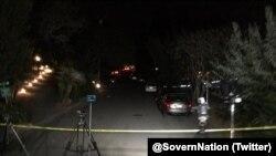 Район рядом с домом в Оринде, где в Хеллоуин произошла стрельба (фото: Twitter / @SovernNation)