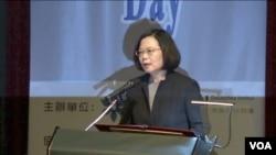 台灣總統蔡英文講話