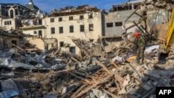 Fotos do ataque na cidade de Granja, Azerveijão, 11 outubro 2020