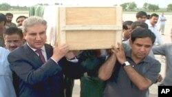 علی رضا کی لاش خصوصی طیارے کے ذریعے چکلالہ ائر بیس لائی گئی