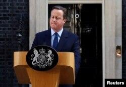 Thủ tướng Anh David Cameron phát biểu sau cuộc trưng cầu dân ý ngày 24/6/2016.
