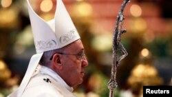 El pontífice celebró el Día Mundial de la Paz de la iglesia Católica con una misa en la Basílica de San Pedro.