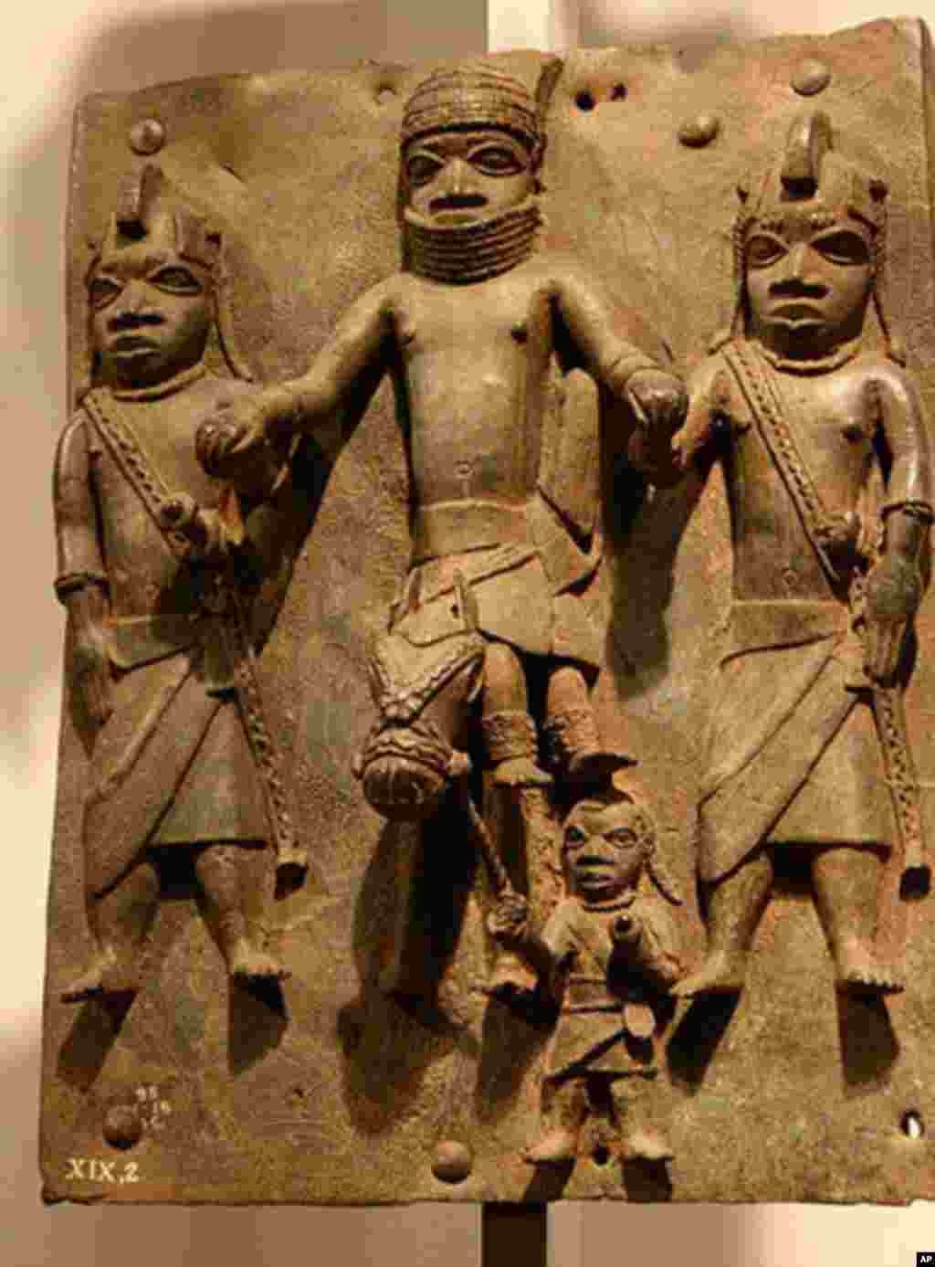 Benin Bronzes created by the Edo peoples of Benin, Nigeria, in the 16th Century. (Credit: Michel Wal)