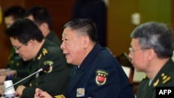 Rear Admiral Guan Youfei (C), director of the Foreign Affairs Office of China's National Defense Ministry, speaks during annual talks with South Korea at the Defense Ministry in Seoul, Jan. 15, 2016. North Korea's latest nuclear test was high on the agenda.