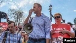 俄羅斯最著名的反對派領袖納瓦爾尼星期六示威時被拘押。