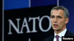FILE - NATO will continue to support Afghanistan and help fund the country's security forces, Secretary-General Jens Stoltenberg says.