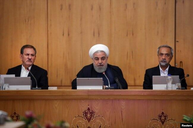 El presidente iraní, Hassan Rouhani, habla durante la reunión del gabinete en Teherán, Irán, el 18 de septiembre de 2019. Foto oficial gobierno de Irán, vía Reuters.