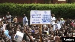 Maandamano ya kuunga mkono wanajeshi waasi Bamako, Mali Machi 28, 2012