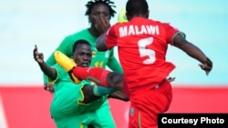 Warriors in action at Levy Mwanawasa Stadium last year in a COSAFA Castle Cup semi-final match clash with Lesotho. (File Photo)